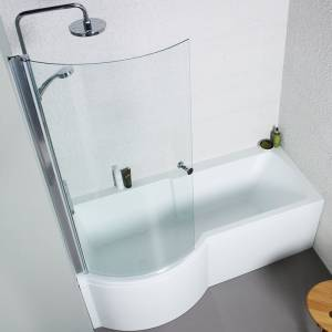 Adapt P Shaped Shower Bath