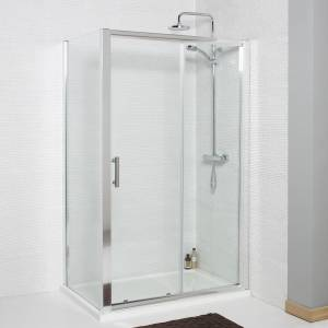 Koncept Sliding Door and Side Panel Shower Enclosure