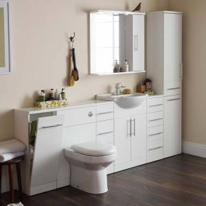 Impakt Bathroom Furniture in White