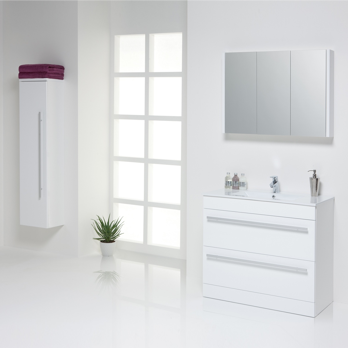 Purity bathroom furniture in white bathroom studio keighley for Furniture keighley