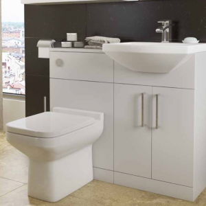 Trim Bathroom Furniture in White